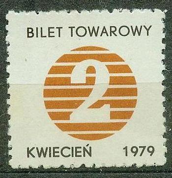 BILET TOWAROWY 2 KG CUKRU kwiecień 1979 r