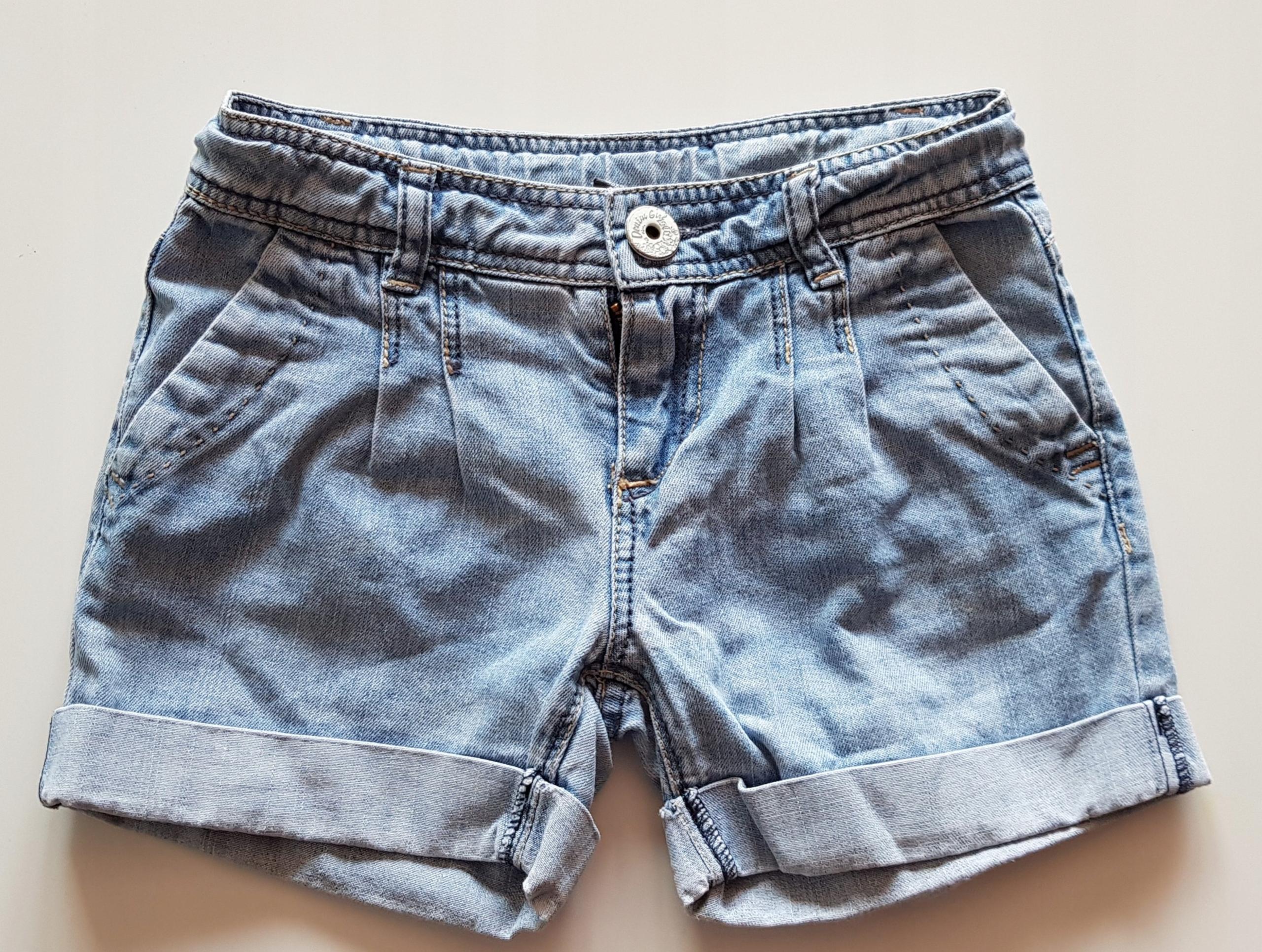 ZARA jeansowe spodenki dziewczynka r. 110 jasne