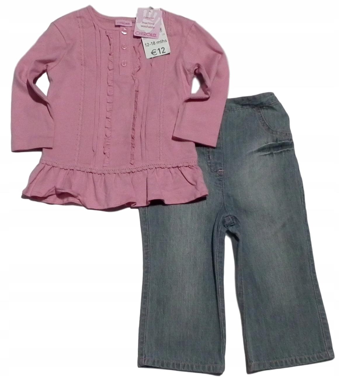 CHEROKEE NOWY komplet bluzka +spodnie roz 86 cm