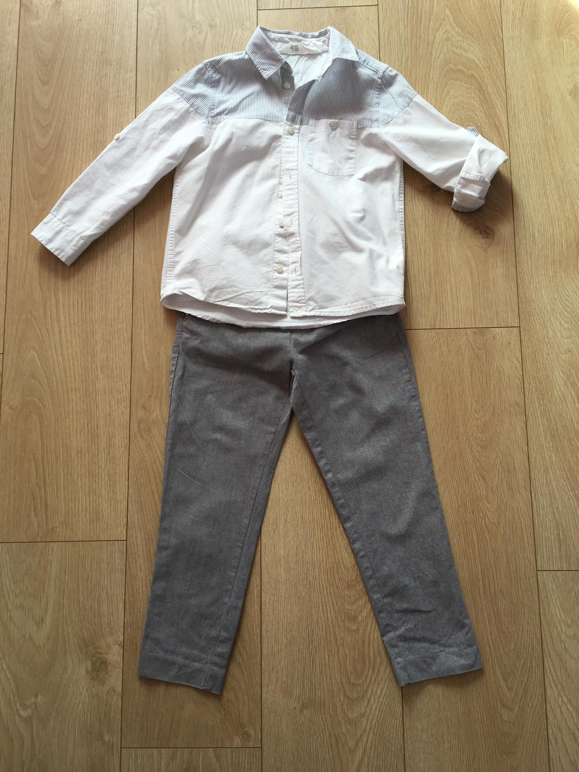116 Koszula H&M i spodnie Reserved 122