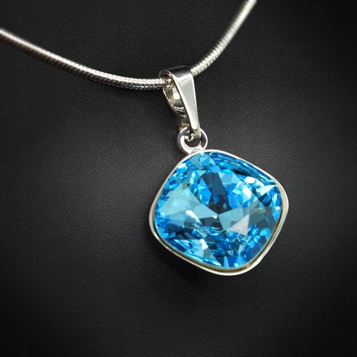 "Wisiorek ""Glare IV (Aquamarine Blue)"" z"