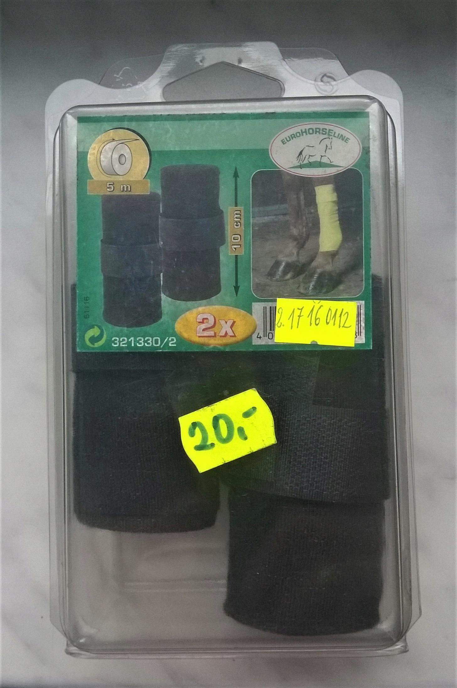 Owijki elastyczne EuroHorseLine czarne 2szt