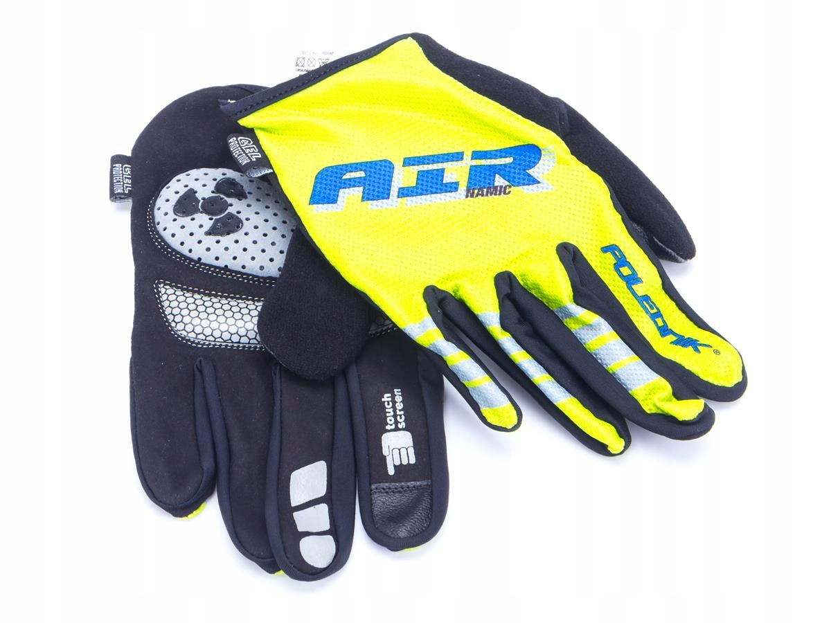 Rękawiczki rowerowe AIRNAMIC kolor seledyn XL