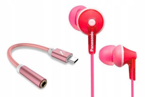 Oryginał słuchawki dokanałowe Panasonic + adapter