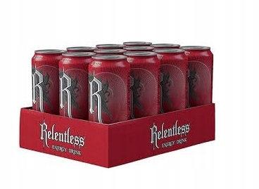 ENERGY DRINK RELENTLESS CHERRY 12 SZTUK