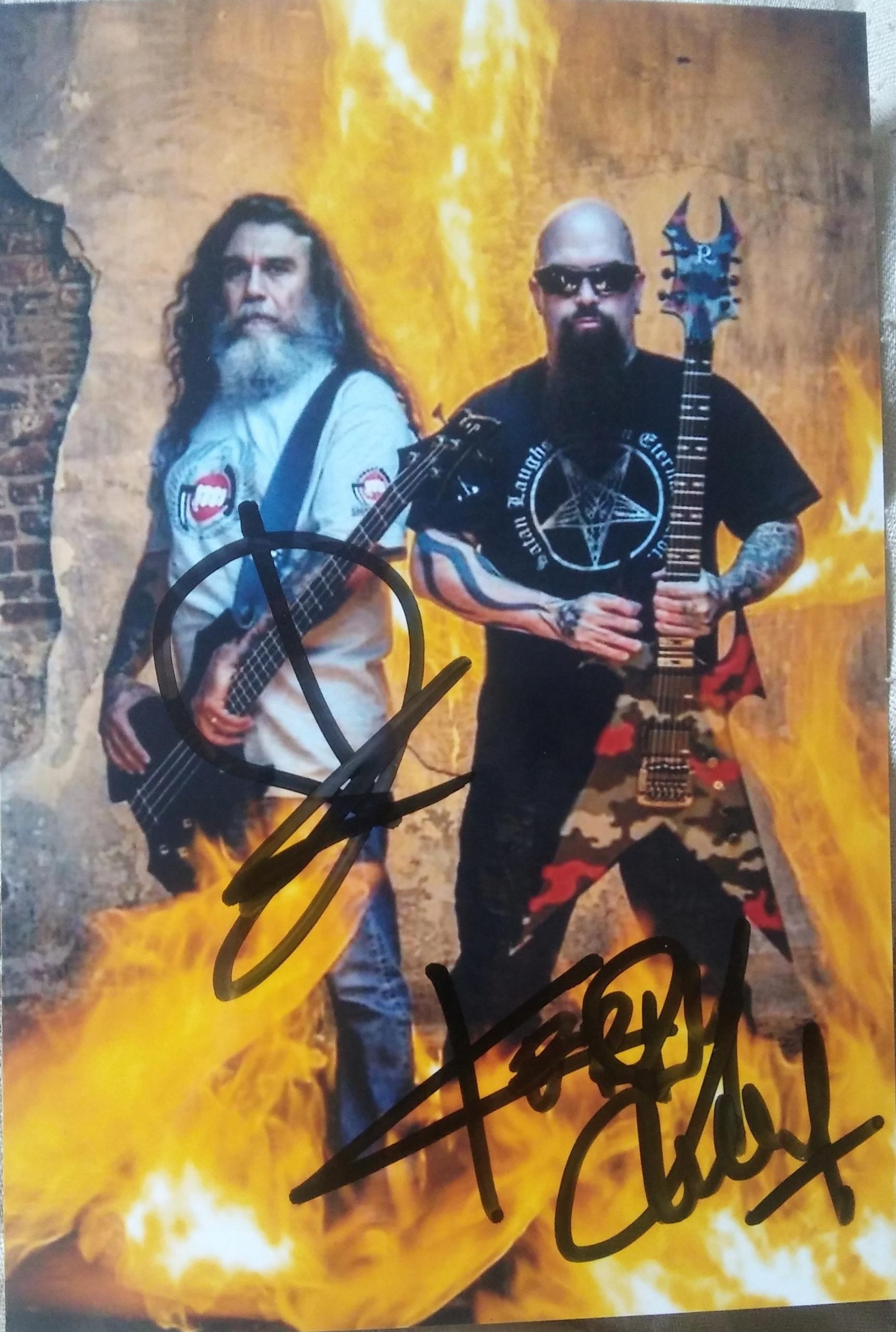 Tom Araya&K.King SLAYER -zdjęcie z autografami