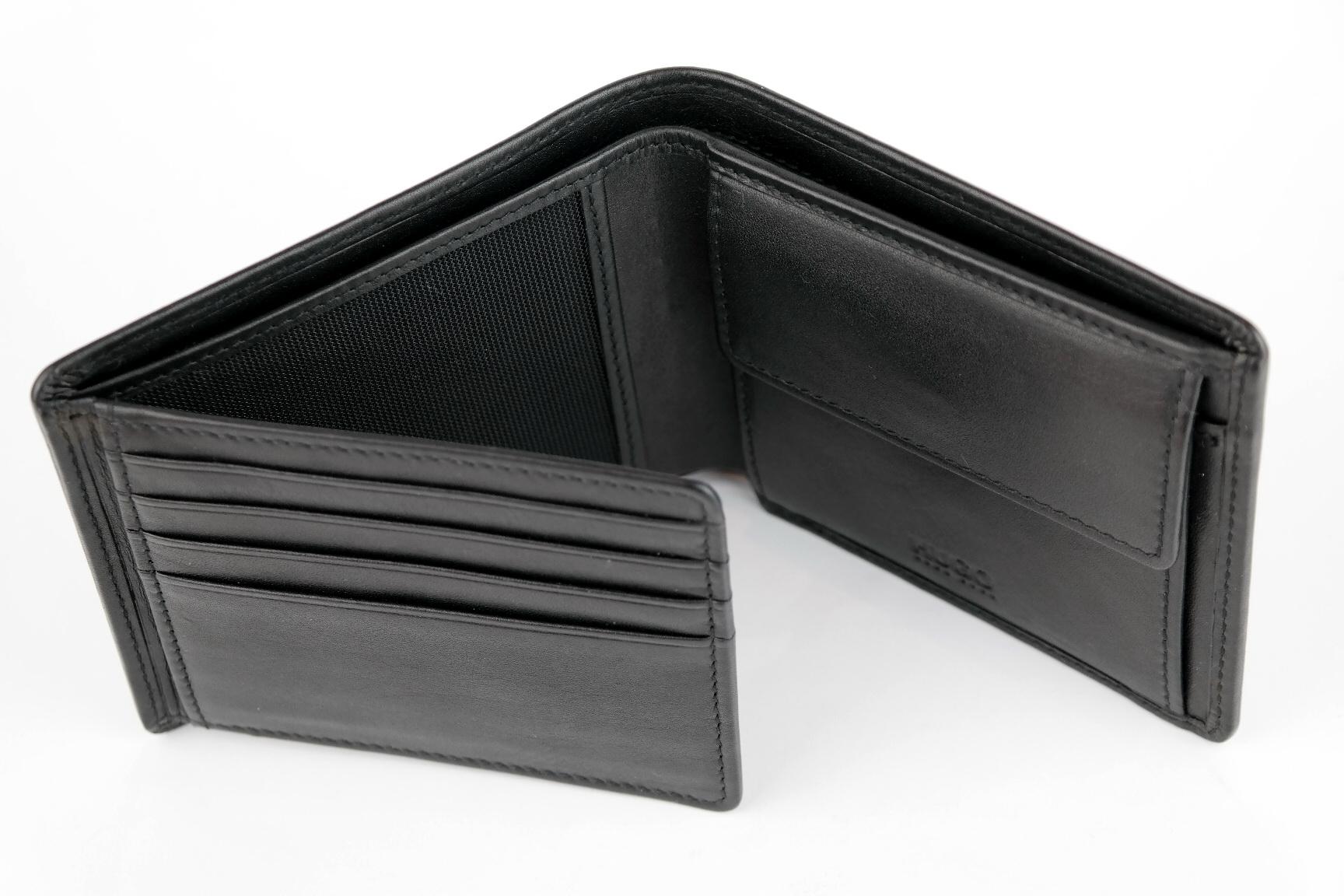 a70c90e9ac342 HUGO BOSS JBasic Portfel męski czarny karty bilon - 6975466611 ...