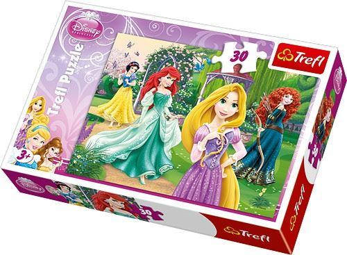 Puzzle 30 Roszpunka Merida Arielka i Śnieżka TREFL