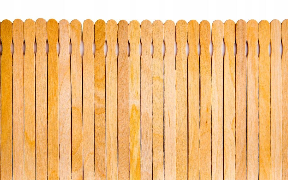 Szpatułki Drewniane do Wosku 25sztuk MIA CALNEA