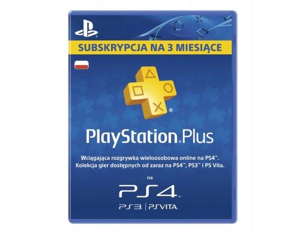 Playstation Plus 3 miesiące PS Plus 90 dni PS+