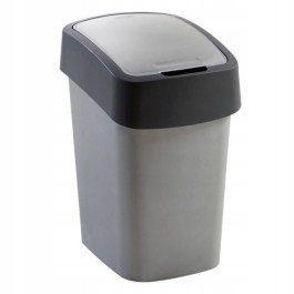 Kosz na śmieci kubeł segracja śmieci 50l szary uch