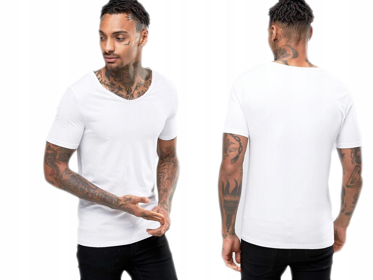 River Island biały bawełniany męski t-shirt XS