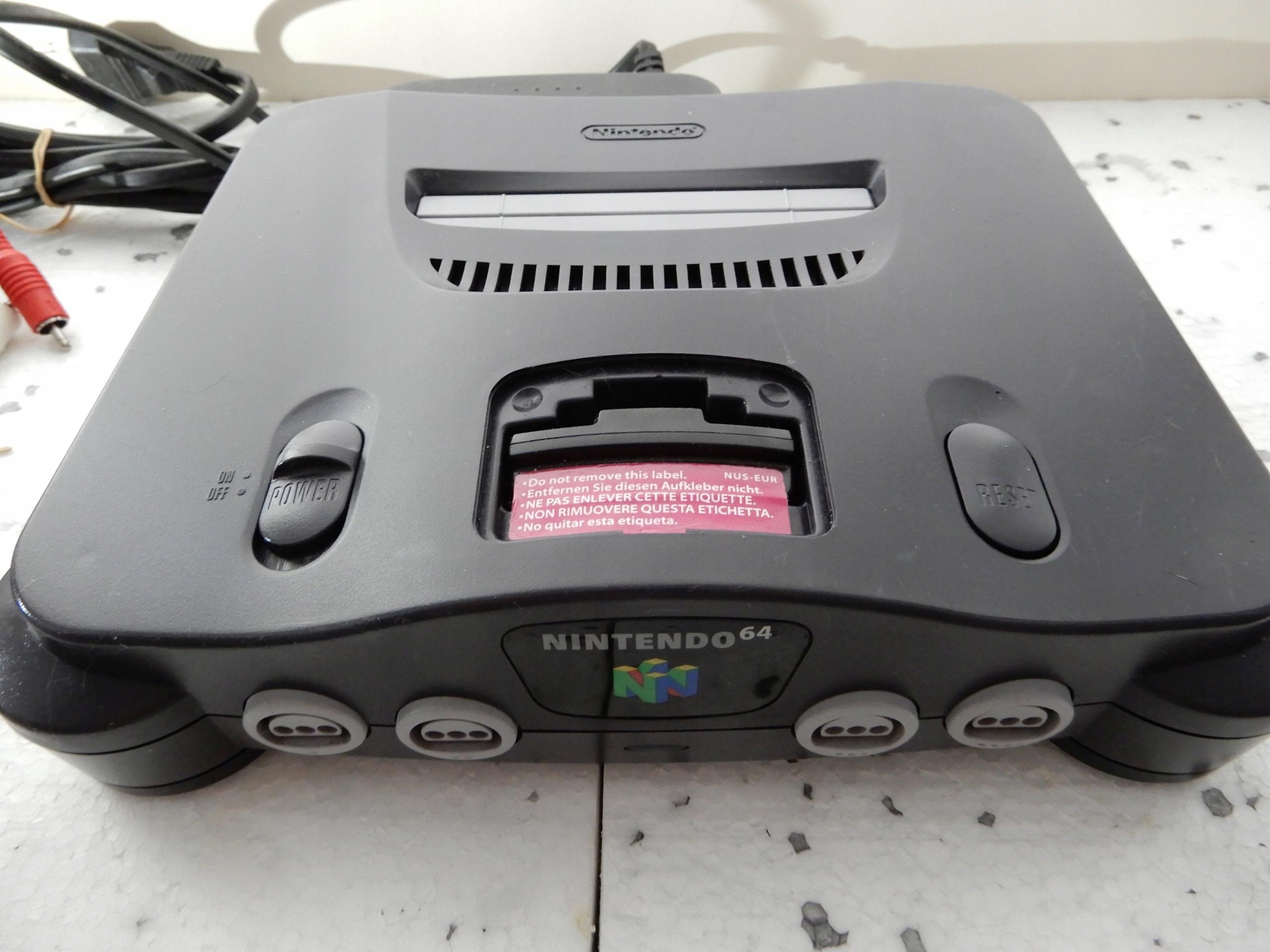 Nintendo 64 zestaw.