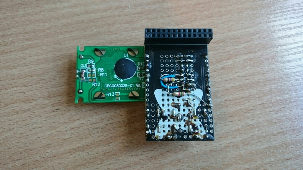 LCD 8x2, 5 przycisków dla Raspberry Pi