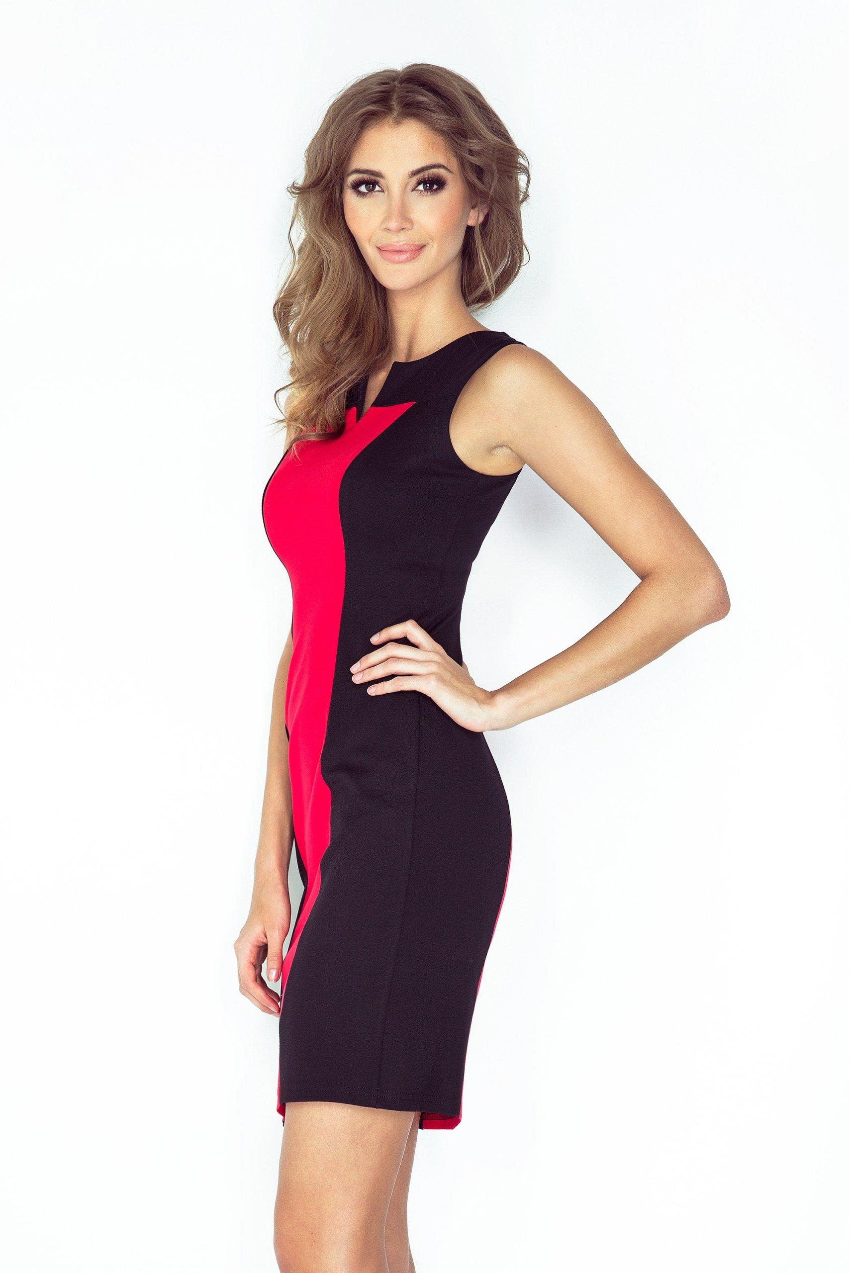 6a4fc28efd Sukienka Dla Puszystych Duże Rozmiary 006-1 XXL 44 - 7224563461 ...
