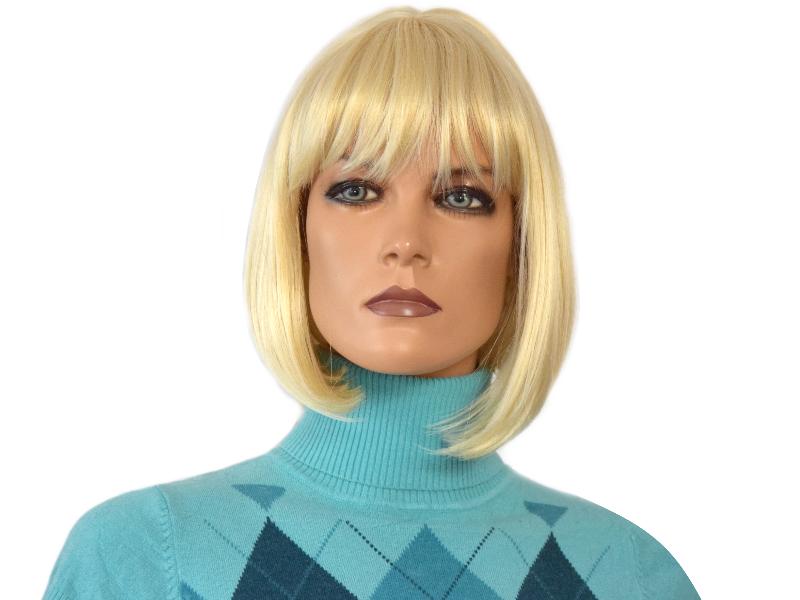Peruka Blond Bob Z Grzywką Peruki 1325 Kol613 7218124992