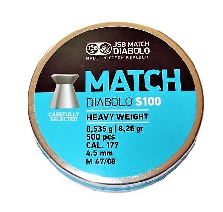 Śrut JSB Match S100 Heavy Weight M 47/08 4,50 mm