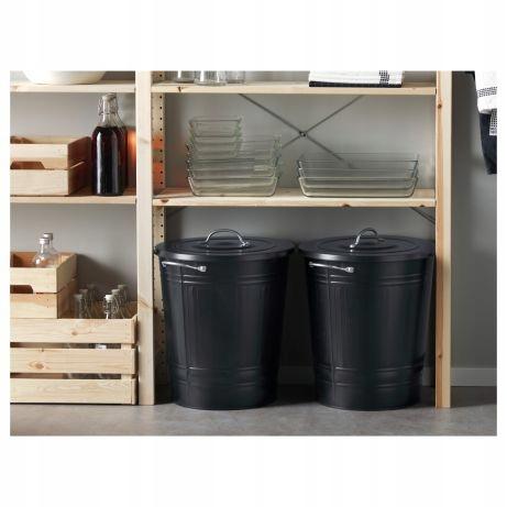 Ikea Knodd wiadro kosz czarne