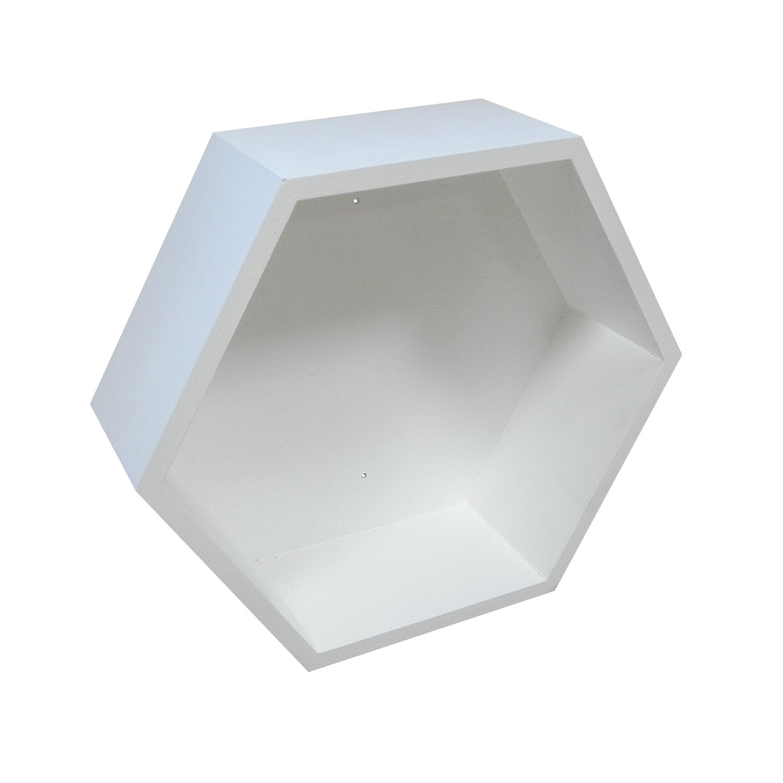 Półka Drewniana Plaster Miodu Biały Hexagon 7446191824