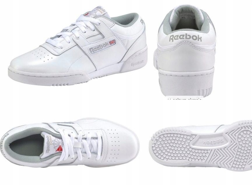 sports shoes 6016b d6f2c BUTK132/1 BIAŁE BUTY SPORTOWE REEBOK CLASSIC 45