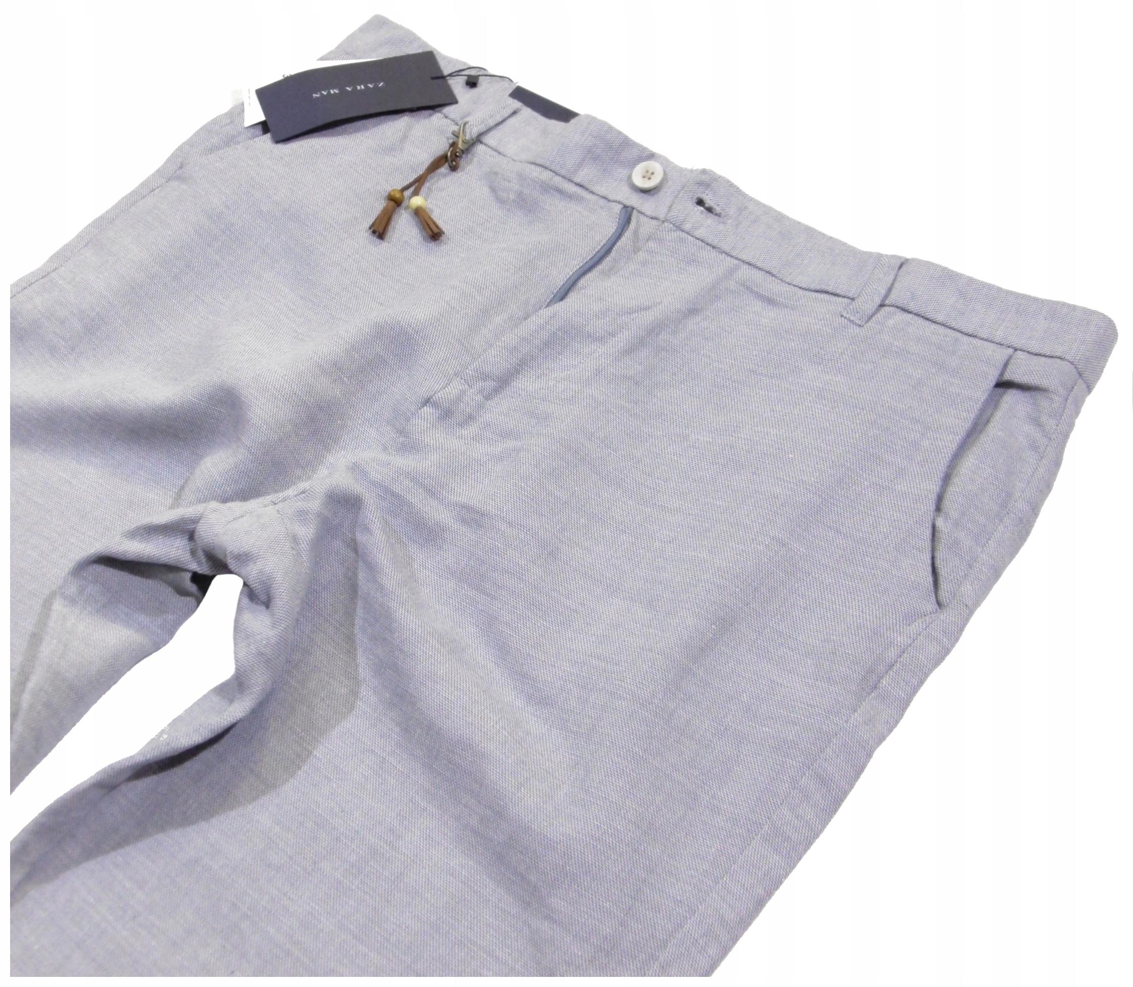 ZARA MAN COMFORT _ Spodnie na LATO _ R 48 _Pas 102