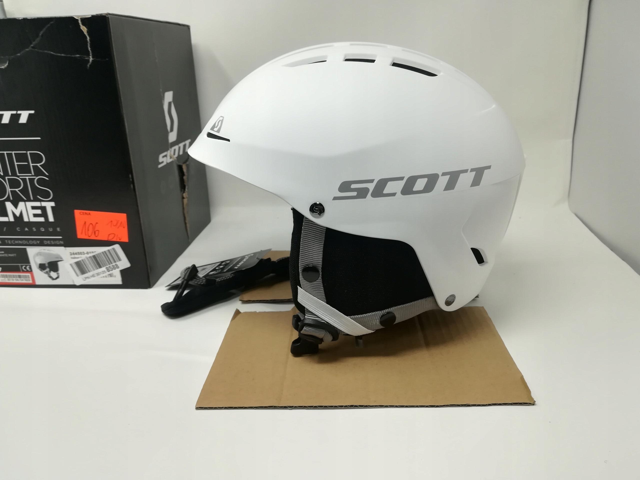 SCOTT APIC WHITE MATT S ( 51-55 cm.)KASK