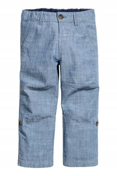 H&M Bawełniane spodnie rozm. 110cm,4-5L