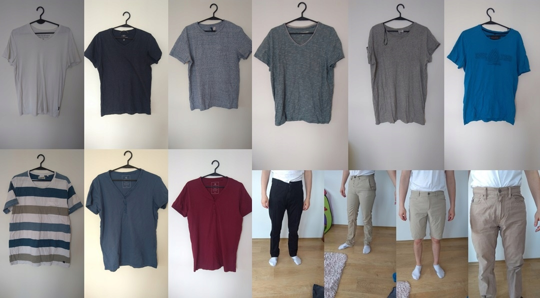 paka ubrań męskich r.M spodnie, koszulki