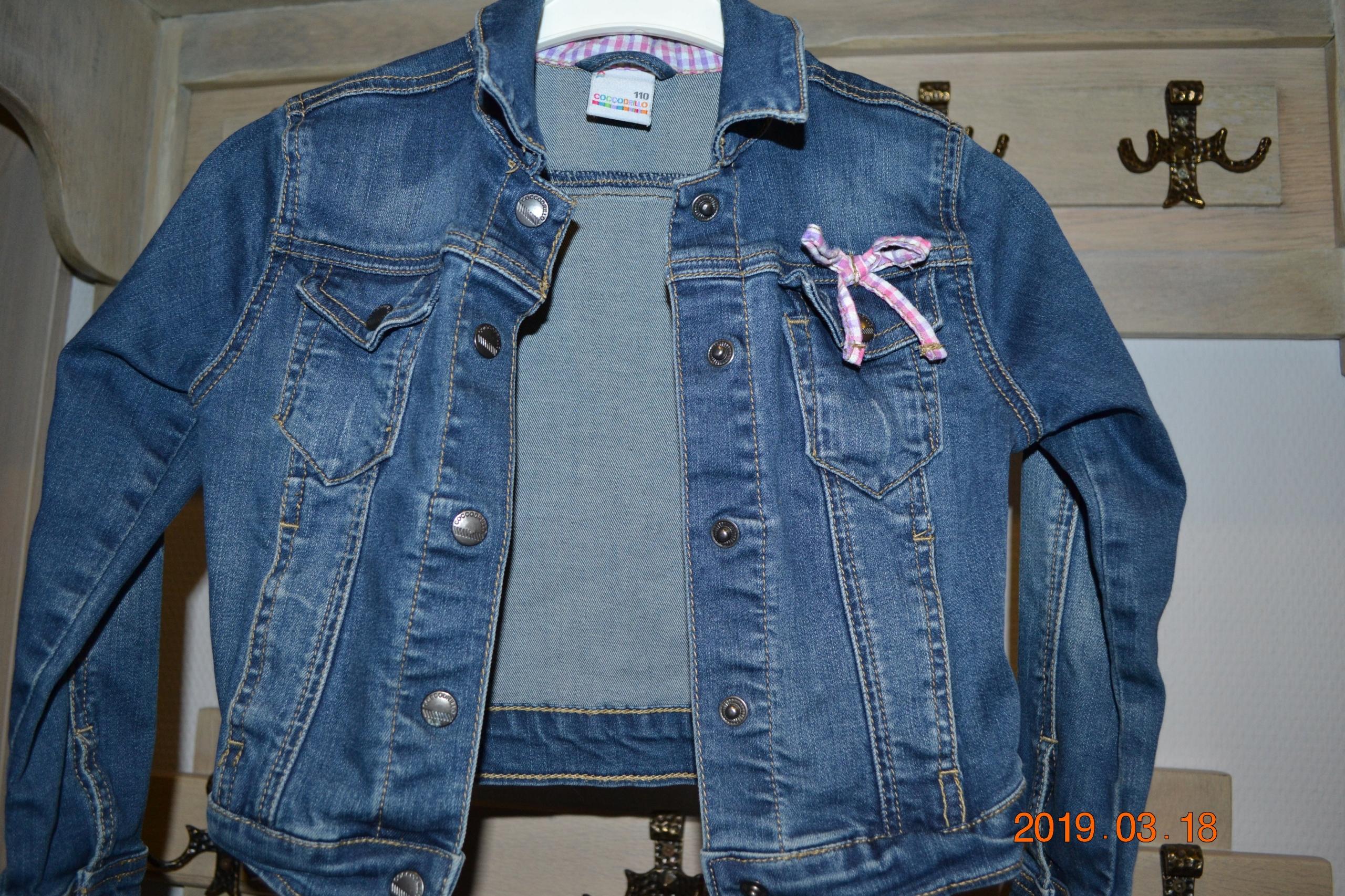 Kurtka jeansowa dla dziewczynki coccodrillo 110 cm