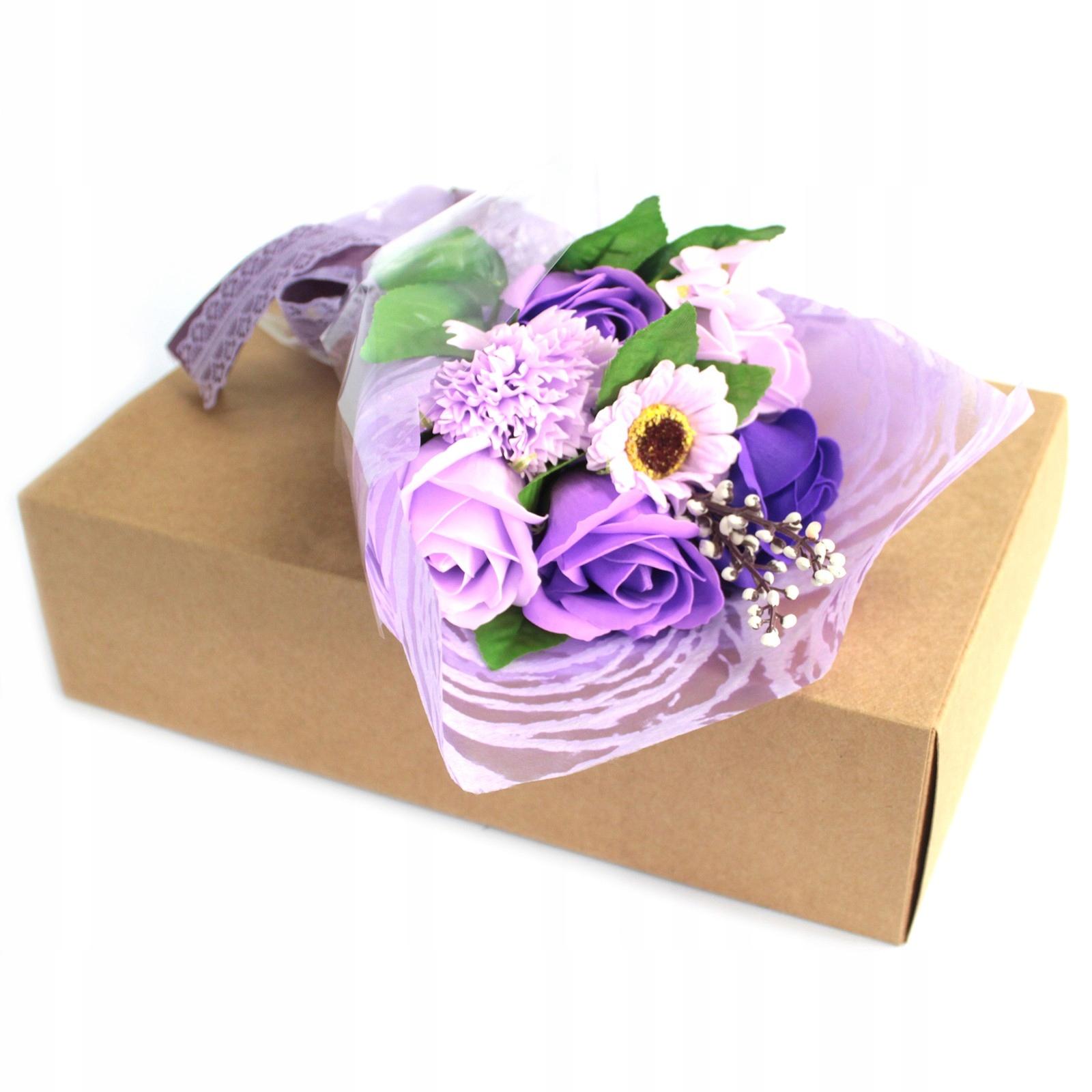 Mydlany Bukiet Kwiatowy fioletowe Róże