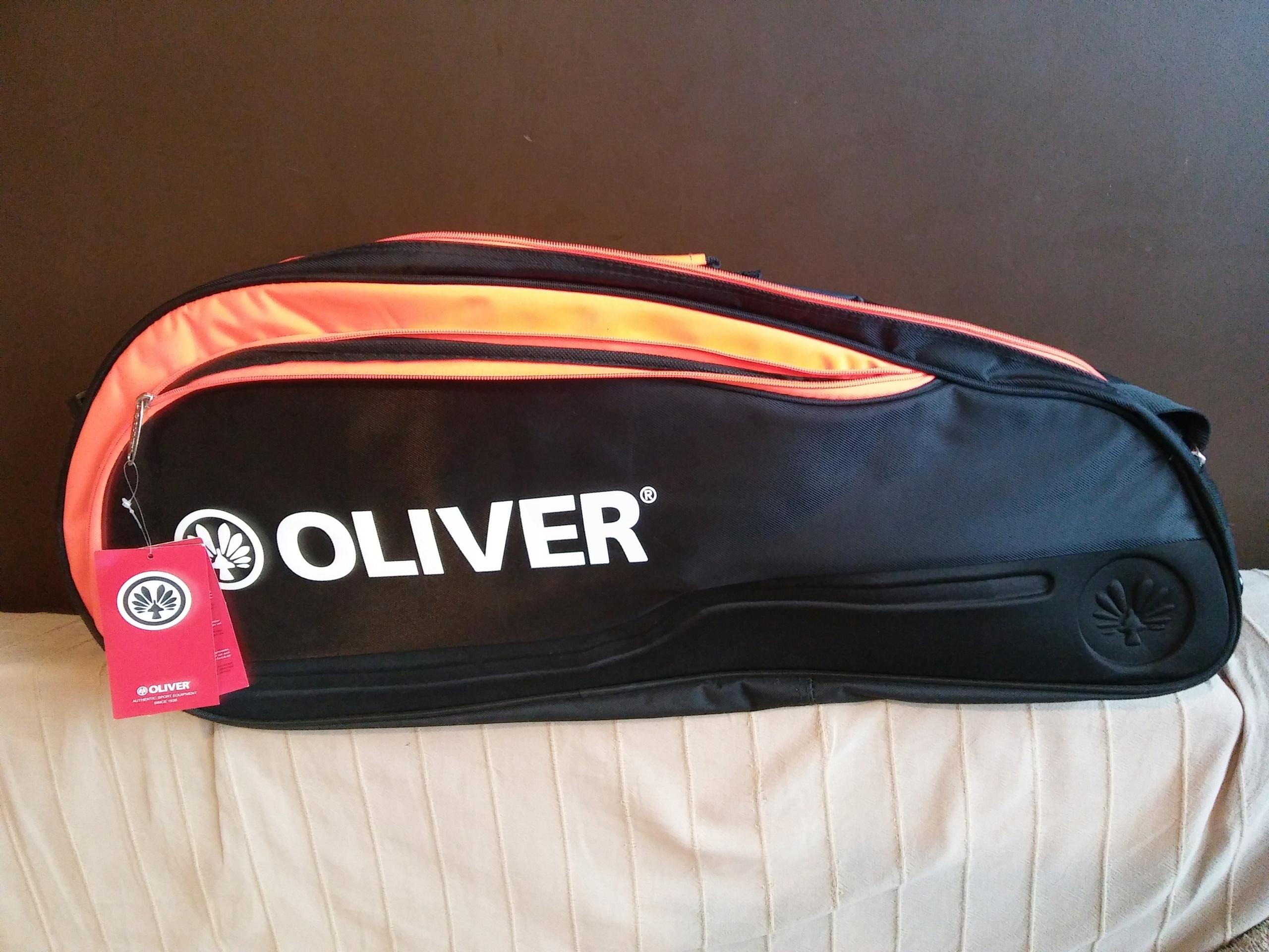 Torba na 6 rakiet squash/badminton Olivier Top Pro