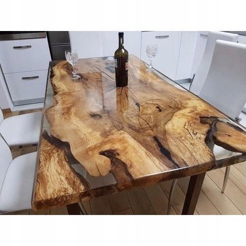 Stolik Stół Drewniany Z Pnia Drzewa I żywicy 7782695788