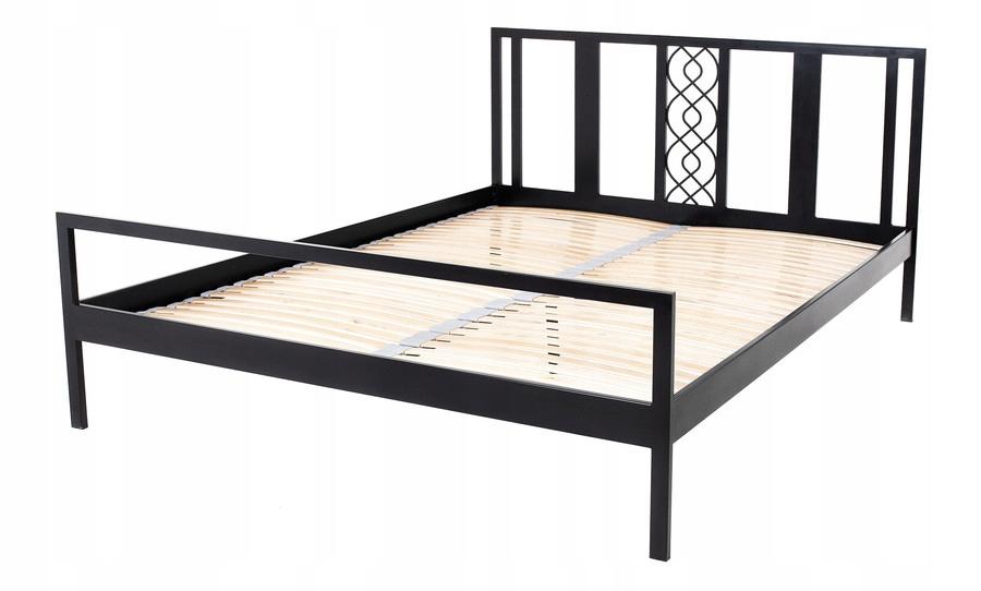 łóżko Metalowe Kute Loft Ze Stelażem 160x200 504