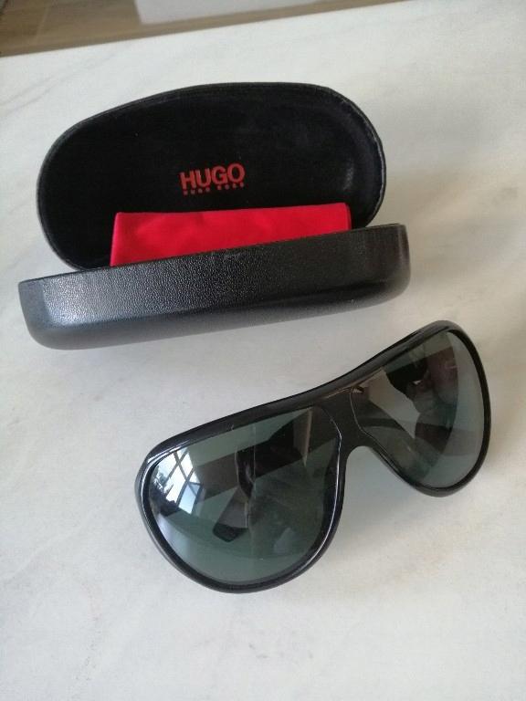 Hugo Boss okulary przeciwsłoneczne czarne etui
