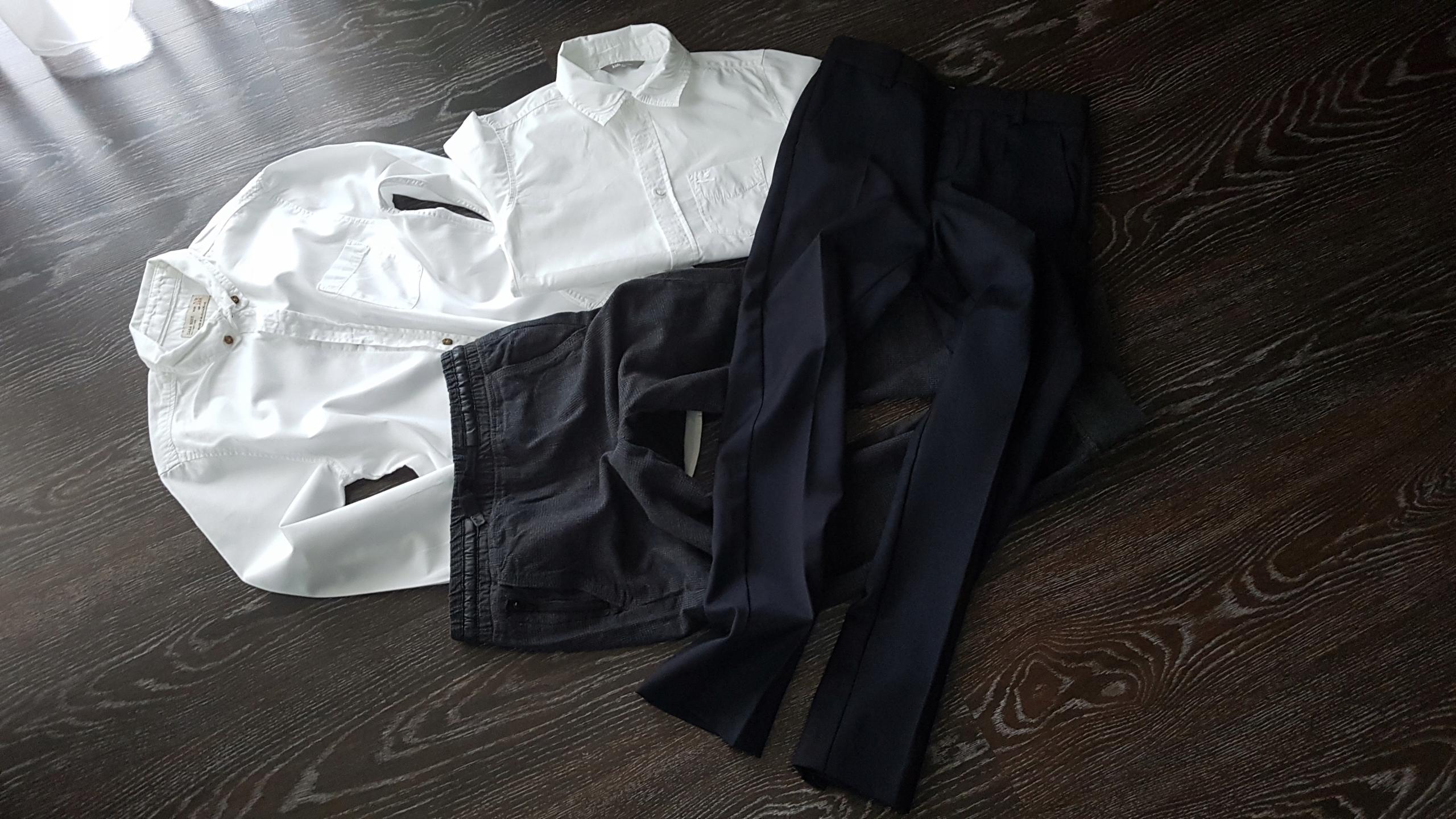 Zara 128 spodnie garnitur koszula komunia 4szt