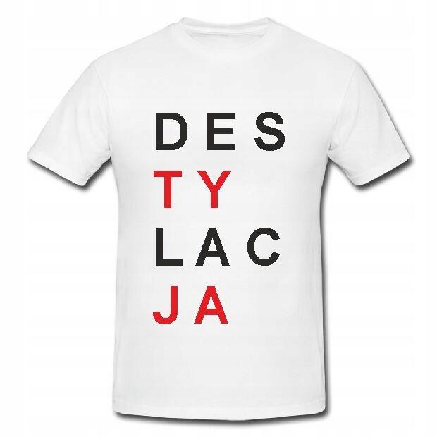 Koszulka z nadrukiem DESTYLACJA, KORNIT, 170gr XXL