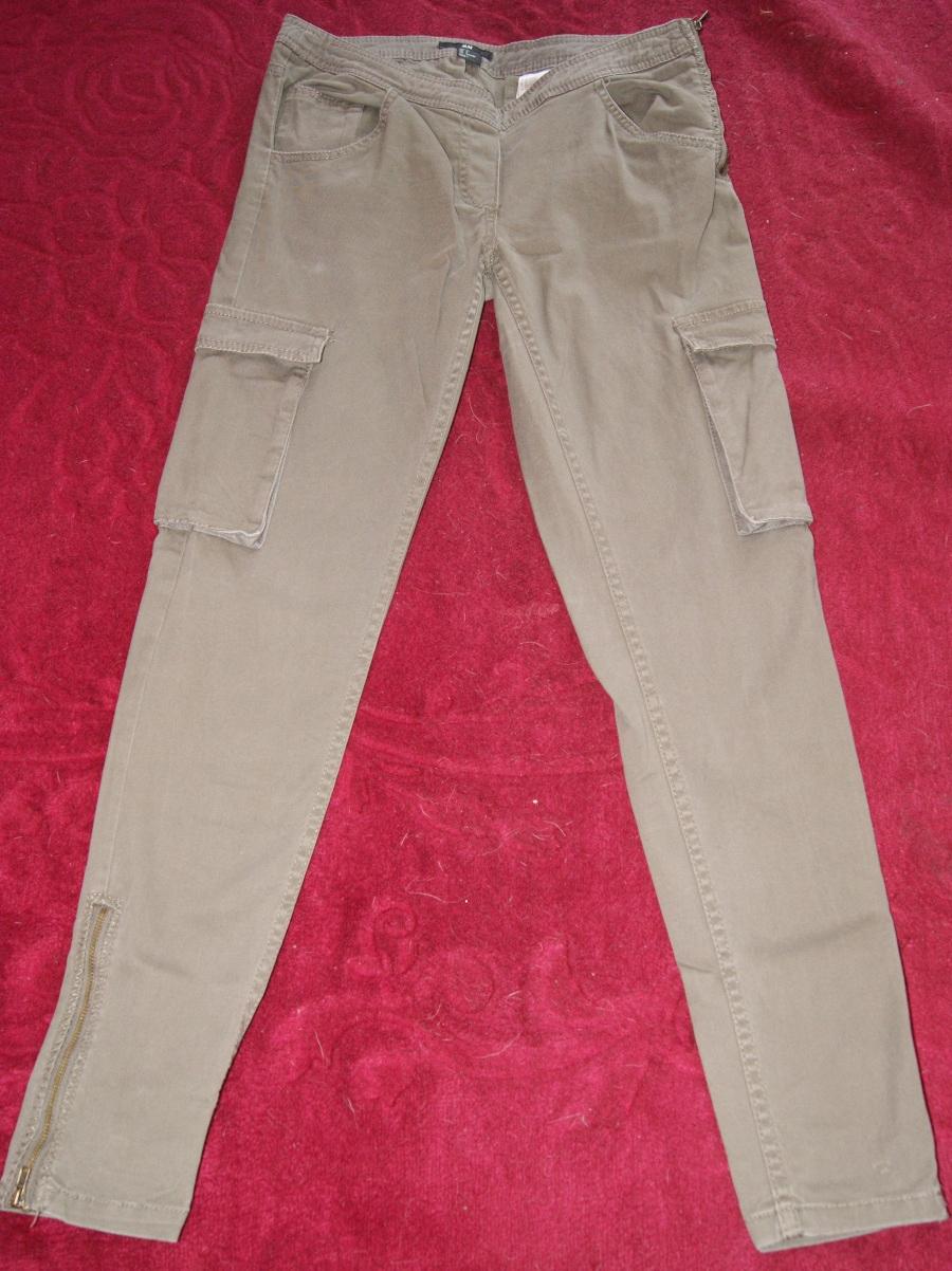 H&M spodnie rurki z kieszeniami na udach