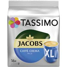 TASSIMO KAWA JACOBS CAFFE CREMA MILD XL 16 DISC