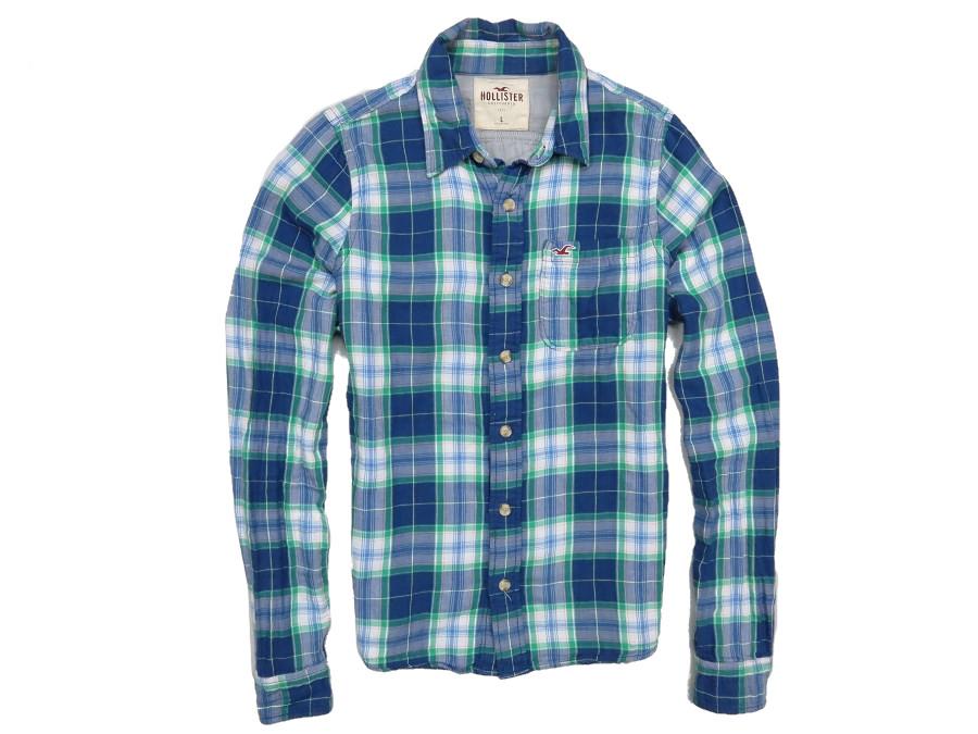 HOLLISTER koszula męska kratka a la flanela L