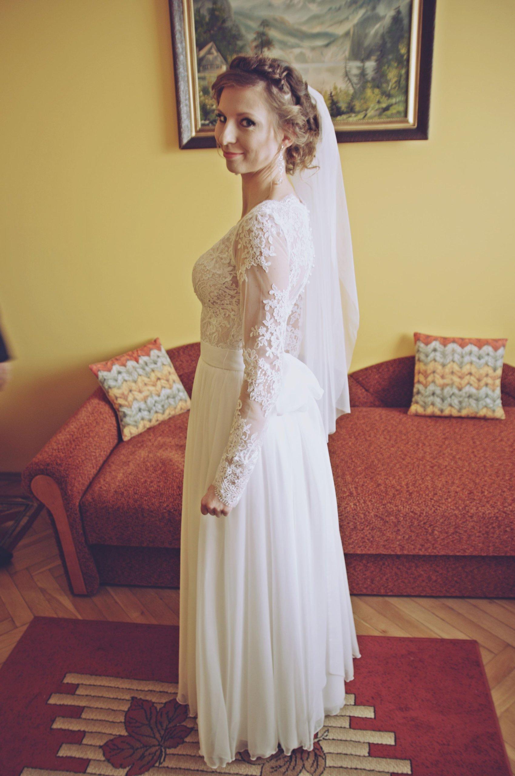 Suknia ślubna 2 W 1 Odpinane Rękawy 3436 7123882659 Oficjalne