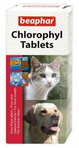 Beaphar Chlorophyl Tablets - preparat na czas ciec