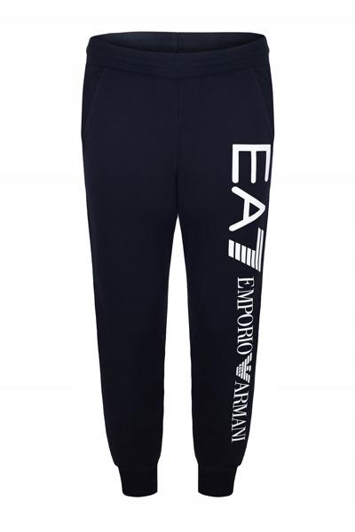 EMPORIO ARMANI granatowe spodnie dresowe E2 r.XL