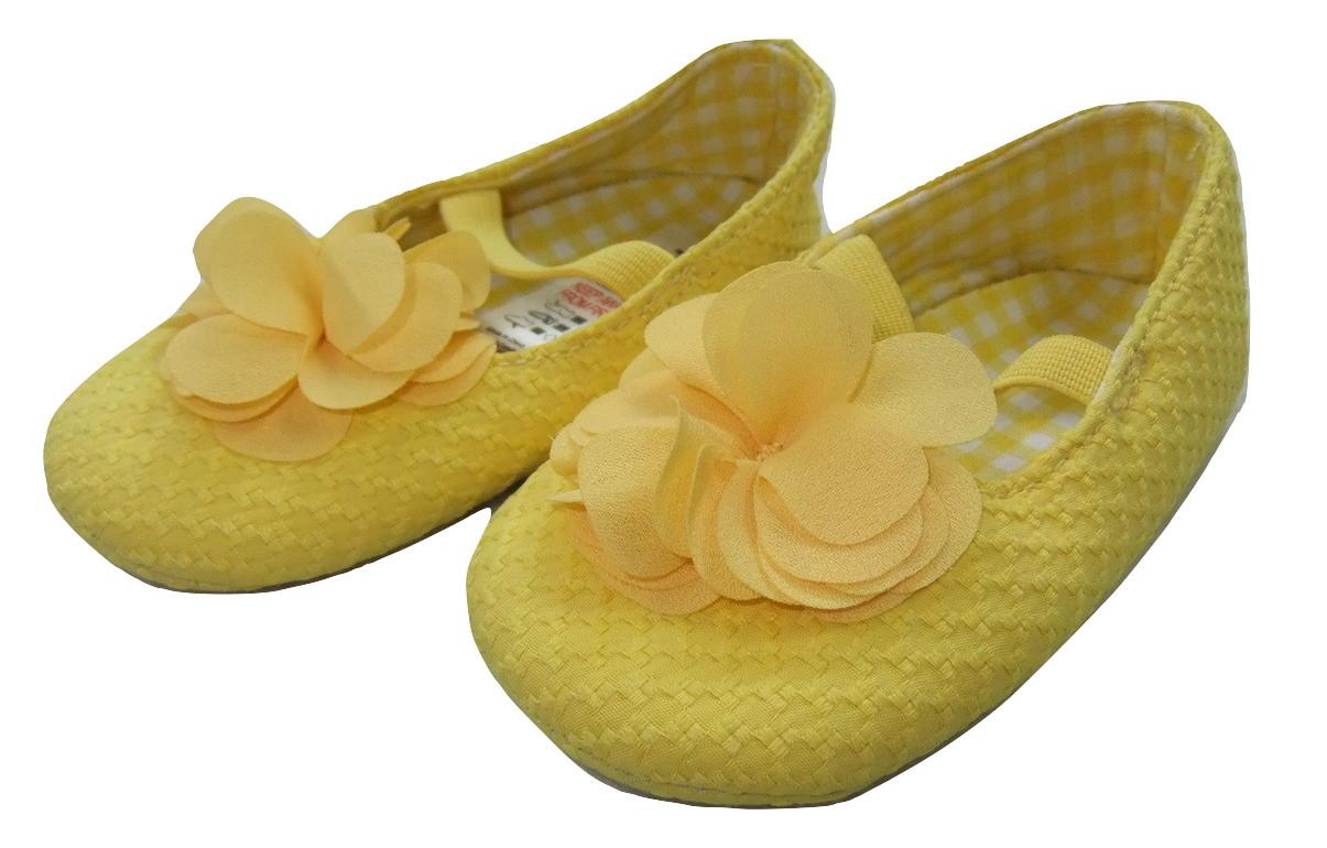żółte buciki baleriny niemowlęce  roz.19  12-18m+