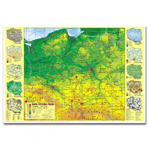 PODKŁADKA NA BIURKO 340X490 mapa POLSKA