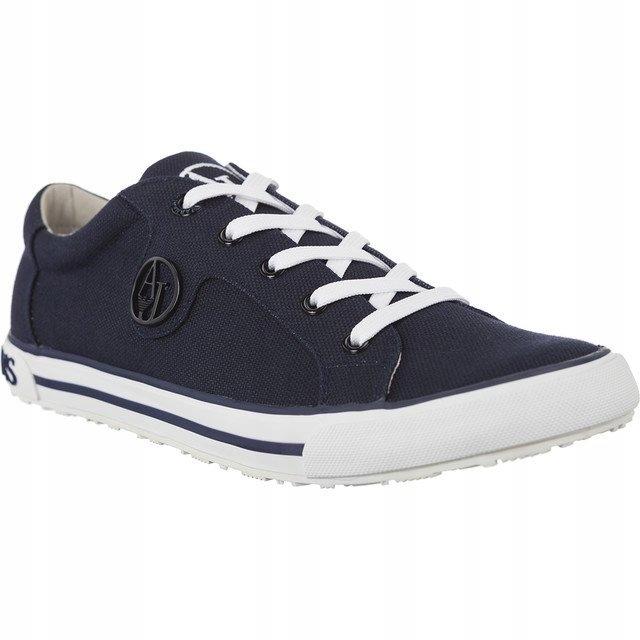 38df7f455b2a6 Czarne Tekstylne Buty Trampki Armani Jeans r.39 - 7586201425 ...