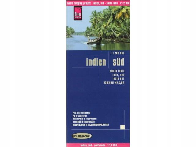 Indie Południowe mapa samoch. 1:1,2mil Reise 2016
