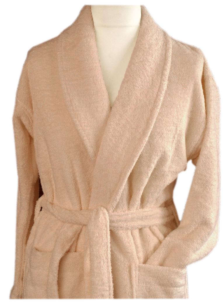 Szlafrok płaszcz kąpielowy Cortina L Greno beżowy