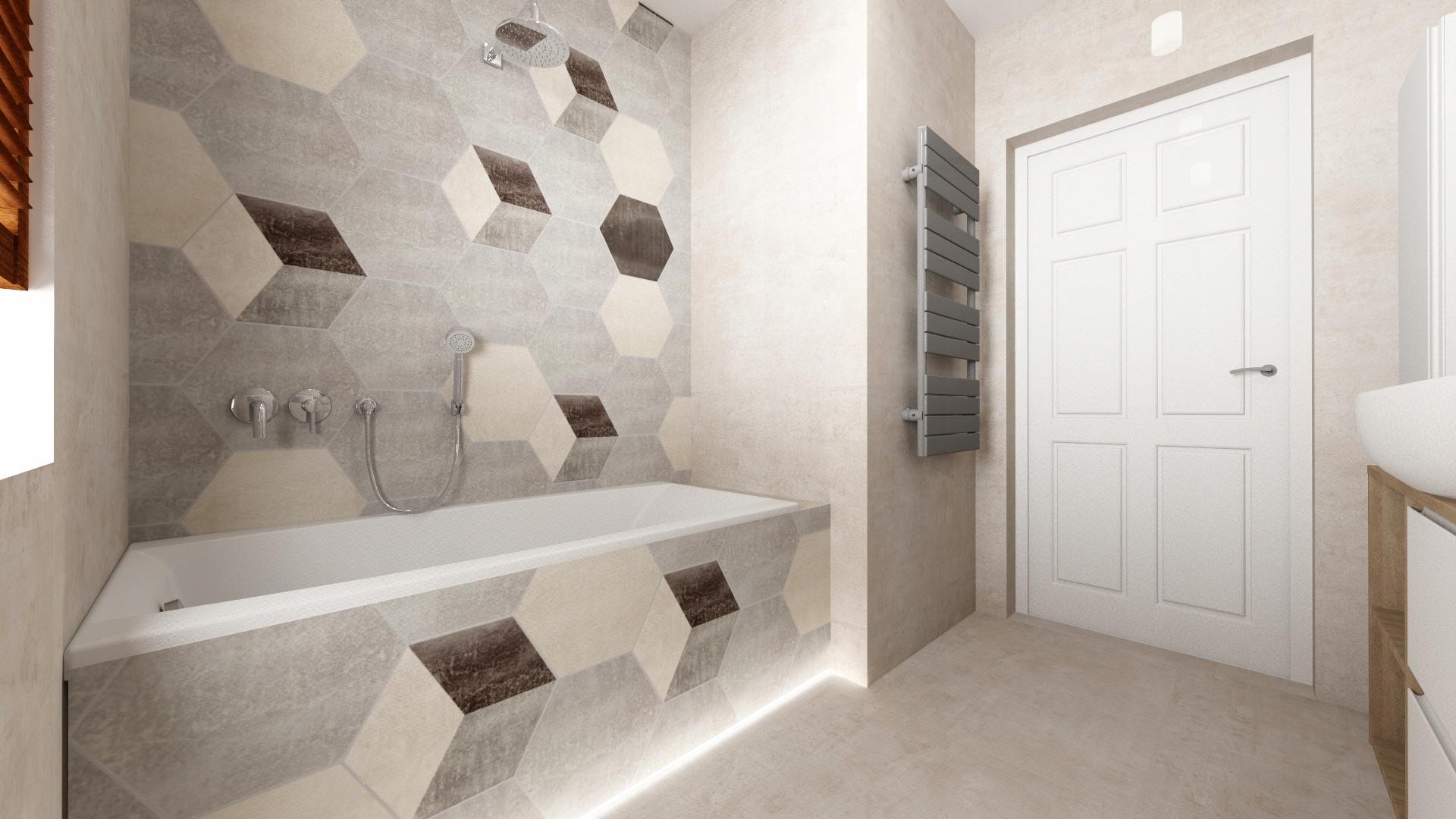 Projekt łazienki Wizualizacja 3d Projekt Gratis