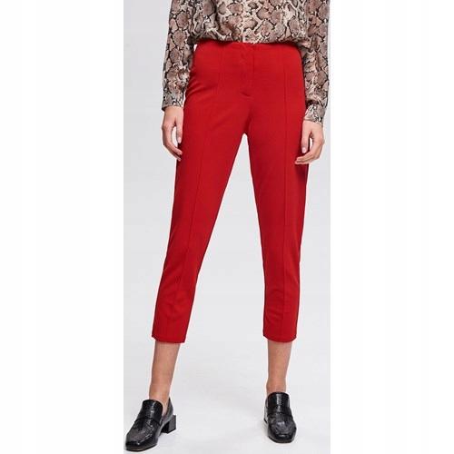 Czerwone spodnie casual M