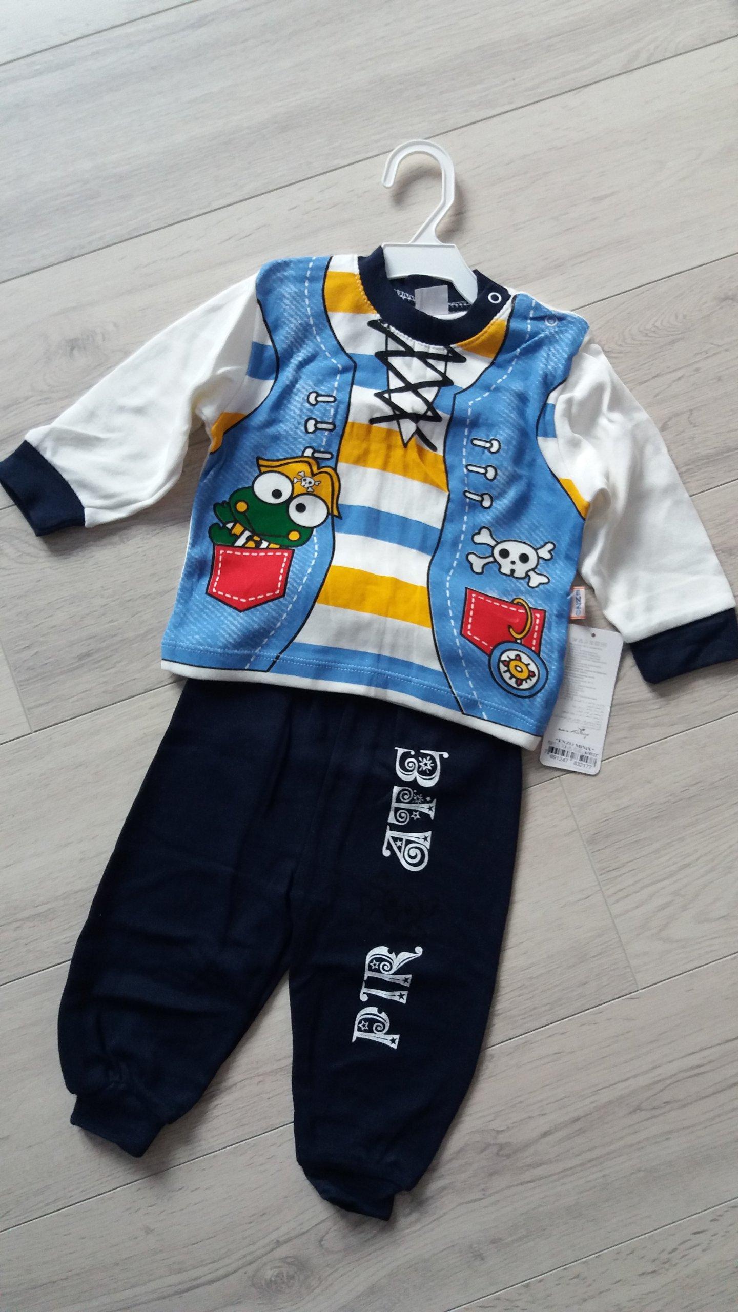Komplet chłopięcy spodnie bluzka PIRAT 80 12 m